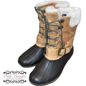 Sperry Top Sider Winter Boots Sz 8 Women Tan